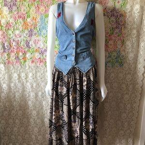 90s GRUNGE VINTAGE SLEEVELESS VEST DRESS size 12